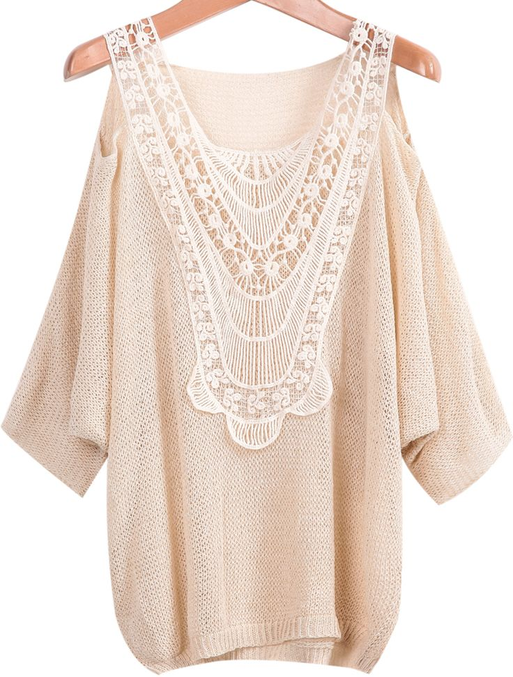Off the Shoulder Lace Loose Blouse