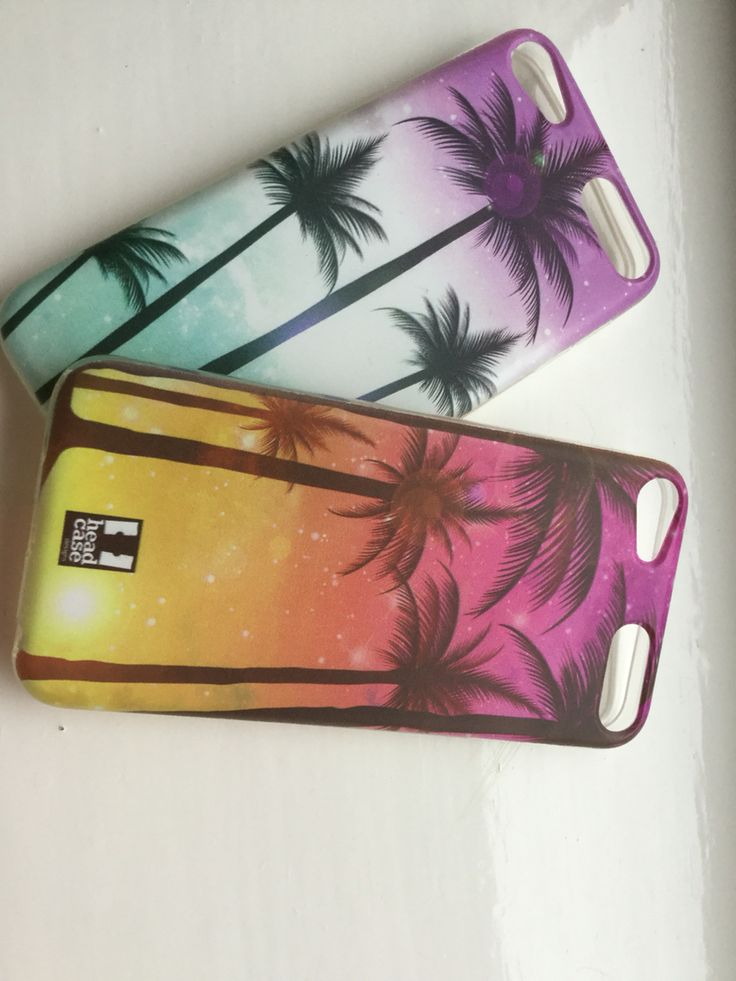 My new iPod touch 6th generation cases, palm trees are goals!!!!!!