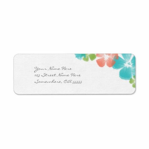 Multicolored Tropical Watercolor Flowers Address Labels