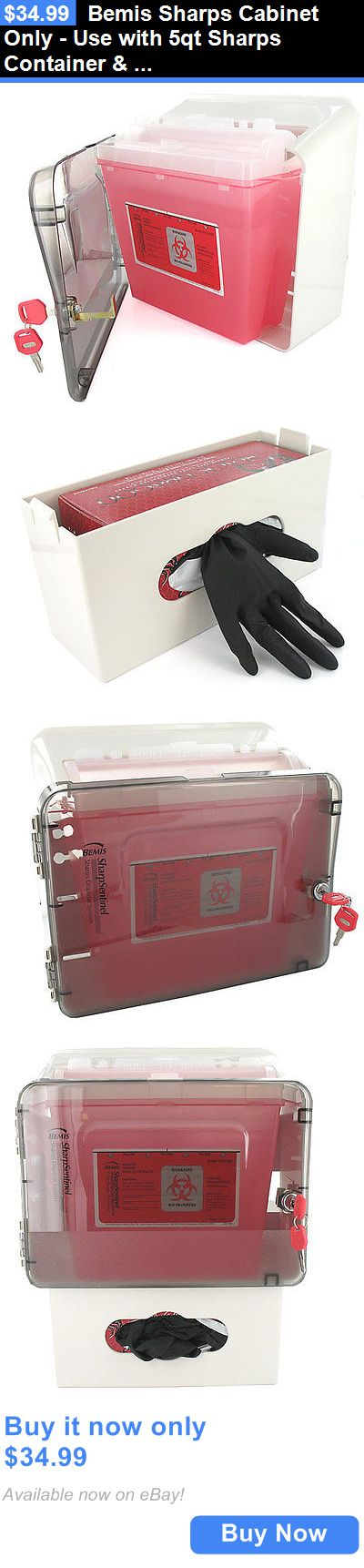 Other Tattoos and Body Art: Bemis Sharps Cabinet Only - Use With 5Qt Sharps Container And Glove Box Holder BUY IT NOW ONLY: $34.99