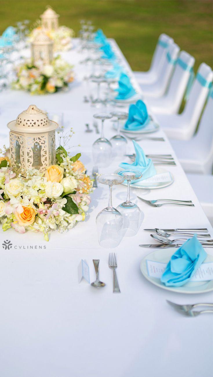 Polyester Napkin 20 X20 Aqua Blue Blue Wedding Decorations Rehearsal Dinner Decorations Blue Table Decorations
