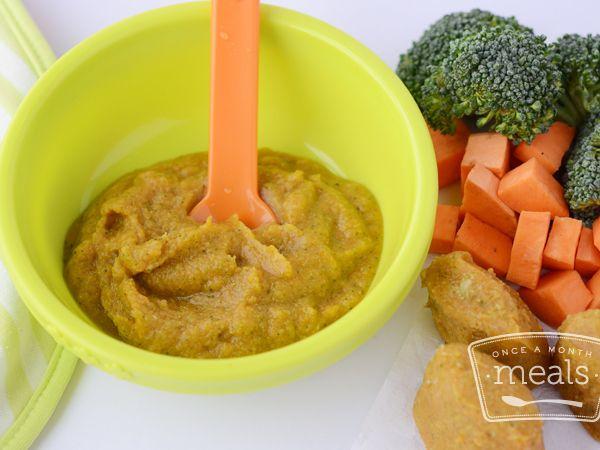 Sweet Potato and Broccoli Puree Baby Food