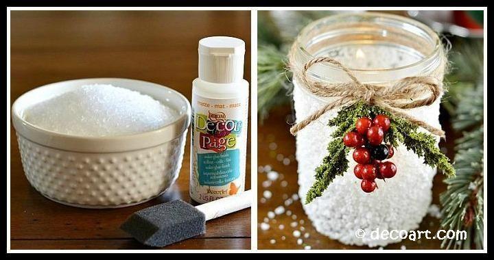 Christmas Snow Mason Jar DIY Tutorial