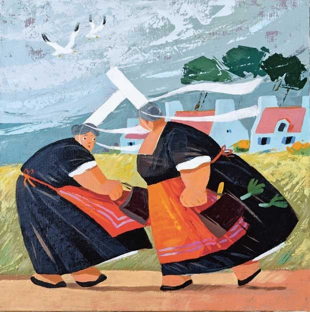 Hubert Rublon Mamie Pik Artiste Peintre Peinture Bretonne