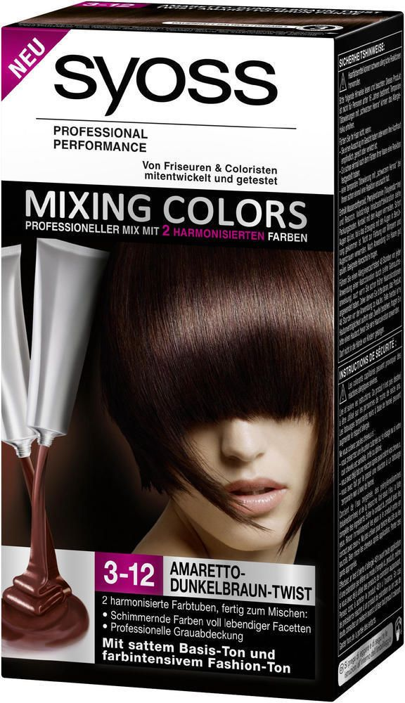 coloration syoss mixing color N°3-12 duo brun fonce neuf