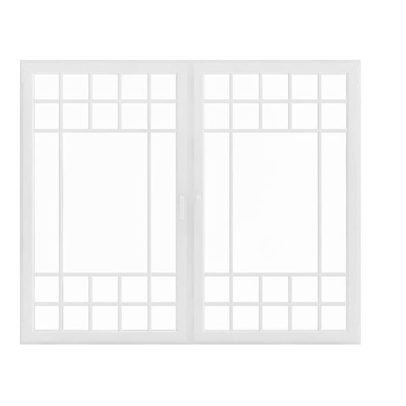 White Window (154.5 x 185 cm). House 3D model. #3D #3DModel #3DDesign #3DScene #architecture #building #c4d #element #exterior #interior #knob #light #max #sun #vray #window #windows