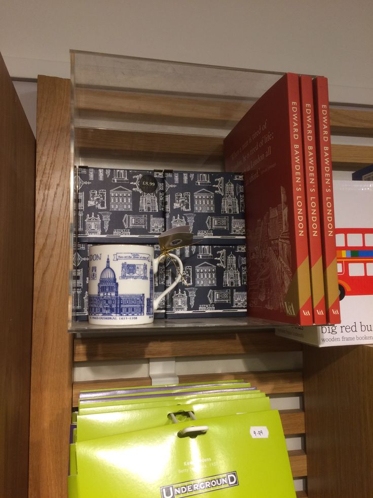 Blue and white mug on sale at Waterstones