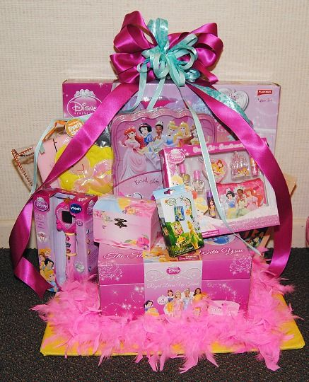 Disney Theme Auction Basket; other central ideas for this are American Girl, Barbie, Lego, or Hot Wheels