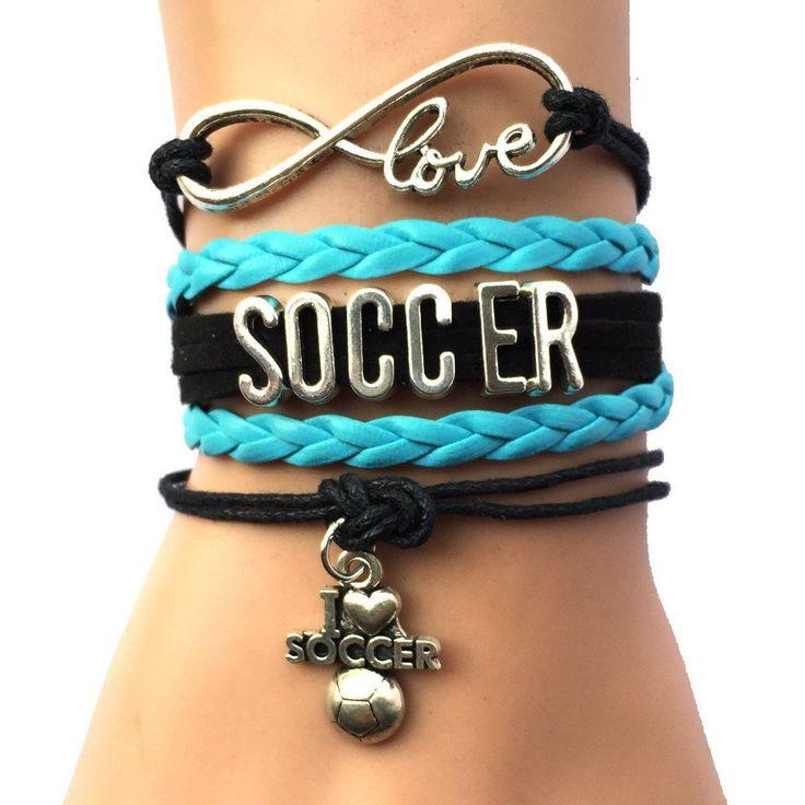 Infinity Love Soccer Charm Bracelet