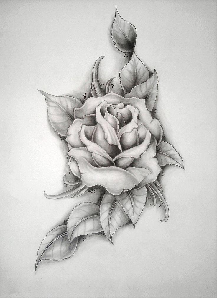 Rose mercyys birthday by ritubimbi on deviantart if for Pretty rose drawings