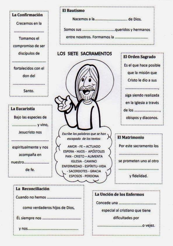 Actividades para demostrar tu conocimiento sobre los sacramentos. #sacramentos #intrapersonal