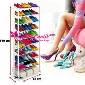 Jual Rak Sepatu Amazing Shoes Rack. Rak sepatu bertingkat bisa menampung hingga 30 sepatu. **Selengkapnya: http://c-cantik.me/p1y **Order Cepat: http://m.me/cantikacantik.id  KONTAK KAMI DI - PIN BBM 2A8FB6B4 - SMS / WA 081220616123 Untuk Fast Response