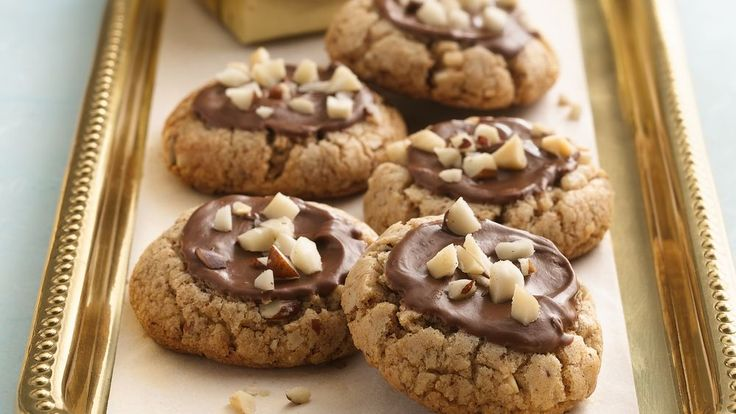 A hint of chocolate-flavor in the dough tastes terrific with chocolate and Brazil nuts.