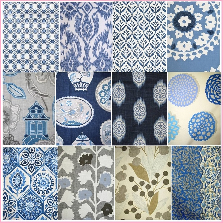 B @ VT InteriorsBlue Textiles Pattern, Fabrics Samples, Inspiration Image, White, Vt Interiors, Prints, Design, Offices Curtains, Fabrics Pattern
