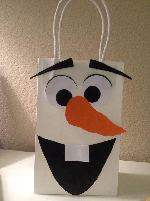 Bolsa de fiesta Favor de muñeco de nieve por TBcraft06 en Etsy