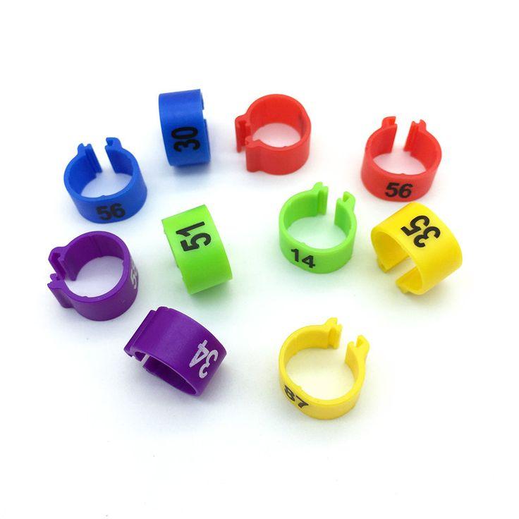 100 PCS NO.1-100 Manajemen Logo Merpati Merpati cincin Warna cincin kaki Burung cincin Ayam Puyuh Hewan Feeding Alat