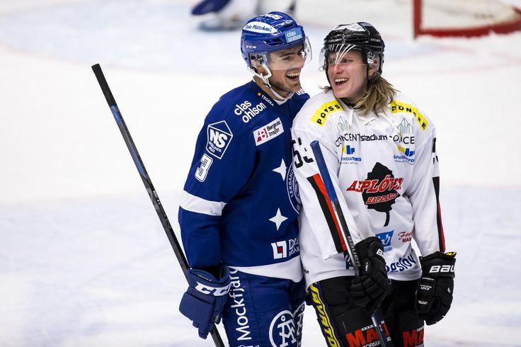 Leksands Alen Bibic och Asplövens Anthon Eriksson, HockeyAllsvenskan 2015-16 FIGJAM