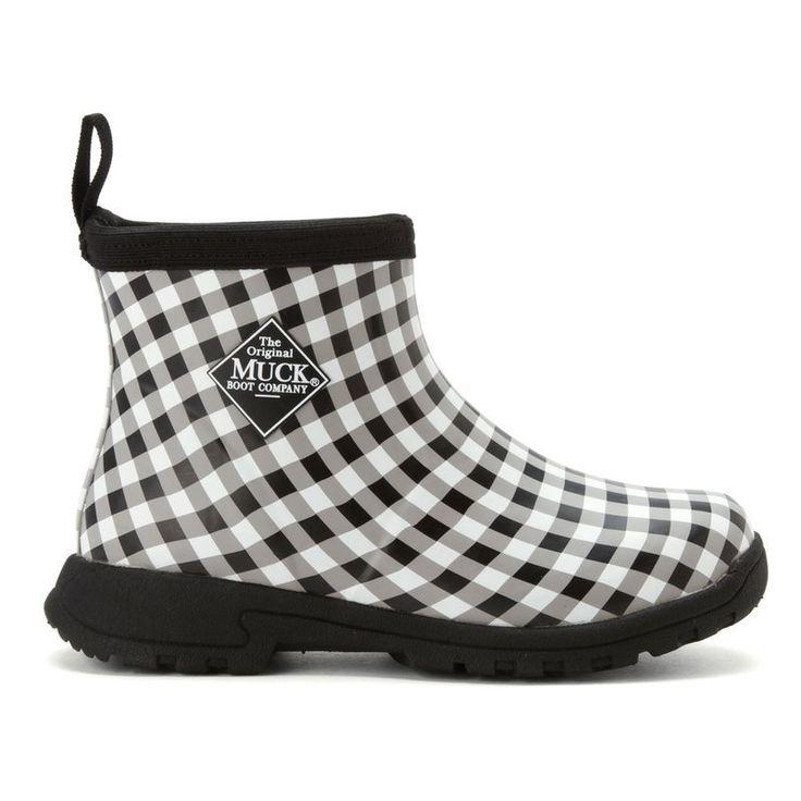 Women's Black Breezy Cool Ankle Rain Boots Muck Summer Garden $59.99