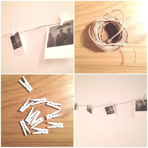Polaroid inspired #walldecor . Check out http://yourinspirationstation.tumblr.com/post/108565160817/fill-those-white-walls to see how you can make it yourself