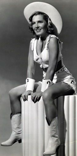 NOW THATS A PIN UP... Vintage western actress www.duderanchroundup.com