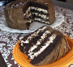 A csokoládé és a mascarpone önmagában is nagyon fincsi, de így együtt tökéletes páros! Hozzávalók: a tésztához: 6 tojás 6 evőkanál liszt 6 evőkanál cukor 2 evőkanál cukrozatlan kakaópor 1 teáskanálnyi sütőpor A fehér krémhez: 1...