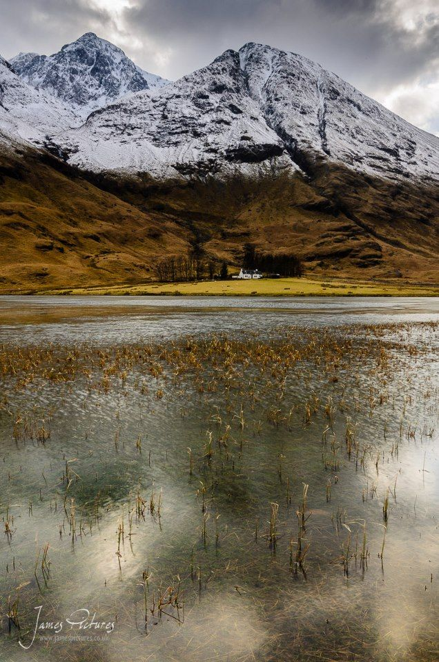The lone cottage on Loch Achtriochtan in the heart of Glencoe.