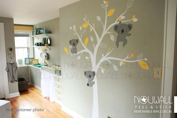 Bébé Stickers muraux animal d ours de koala décor Arbre