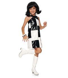 black & white go-go dancer costume