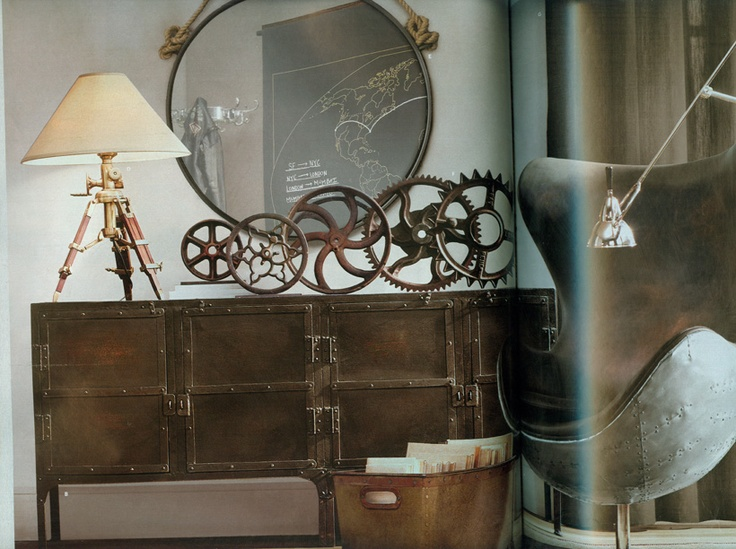 Steampunk interior design restoration hardware for Designer home decor accessories