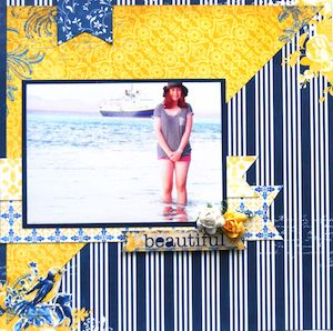 Nautical page created with BoBunny, Genieve collection by Teena Hopkins for My Scrappin' Shop. #BoBunny