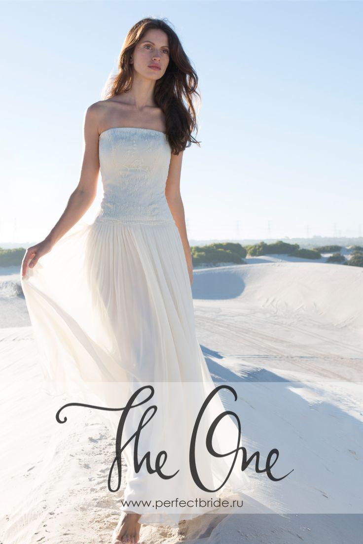 Открытое свадебное платье с красивой спиной и легчайшей шифоновой юбкой Nadia