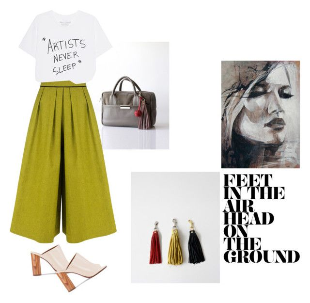 """""""Artists never sleep"""" by opelle-creative on Polyvore featuring Tory Burch, BIG PARK and opellebags"""