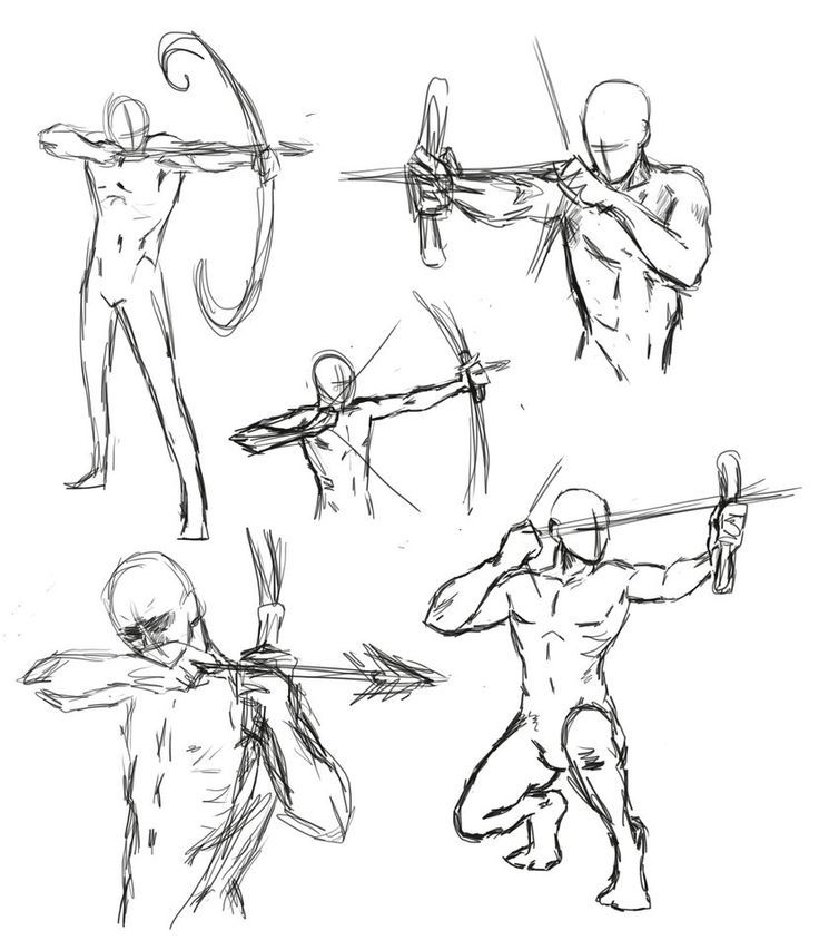 anime bow fighting poses - Google Search