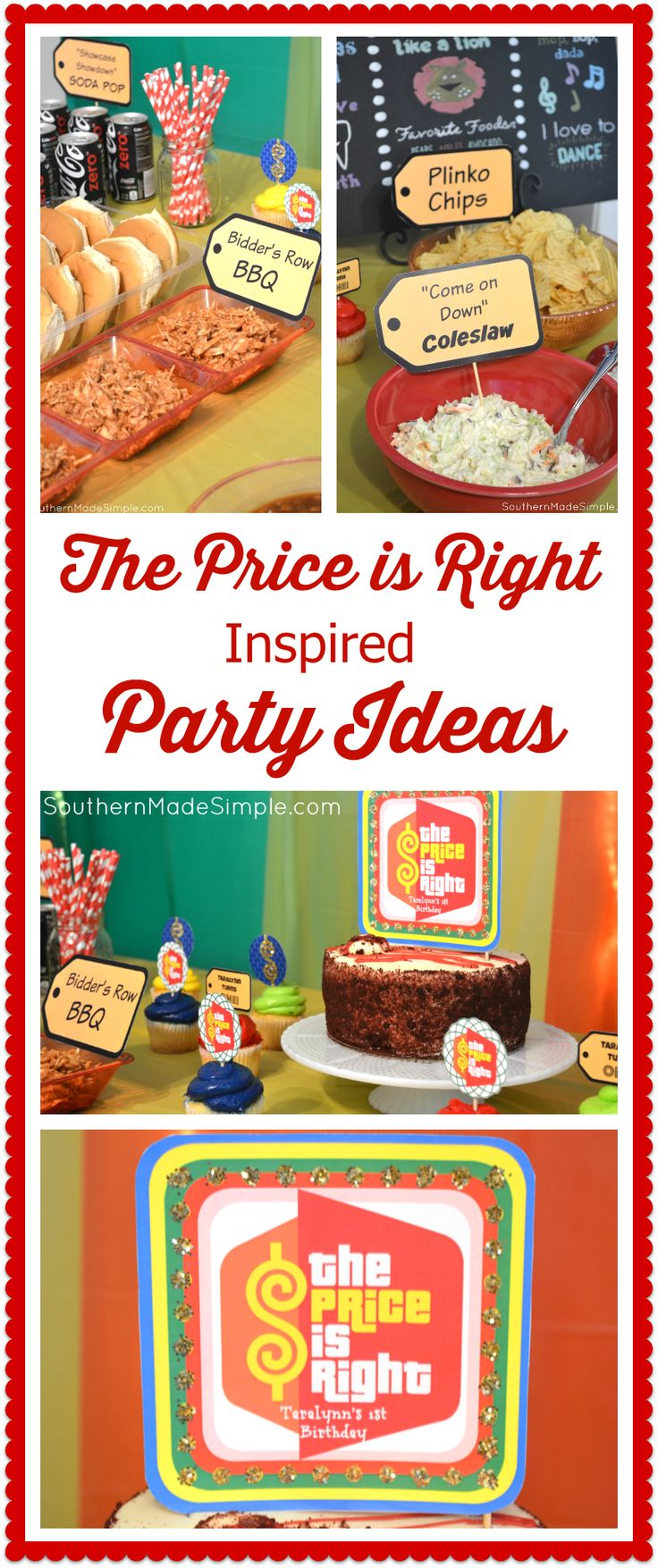 Price is Right Party Ideas + FREE printables! Price is Right Themed Birthday Party