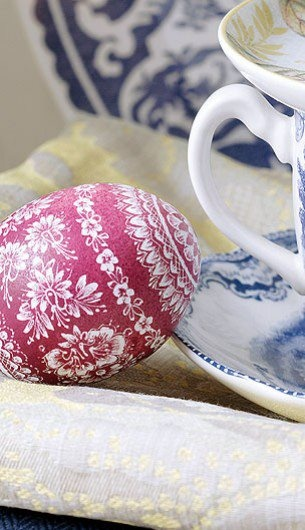 scratched dyed egg