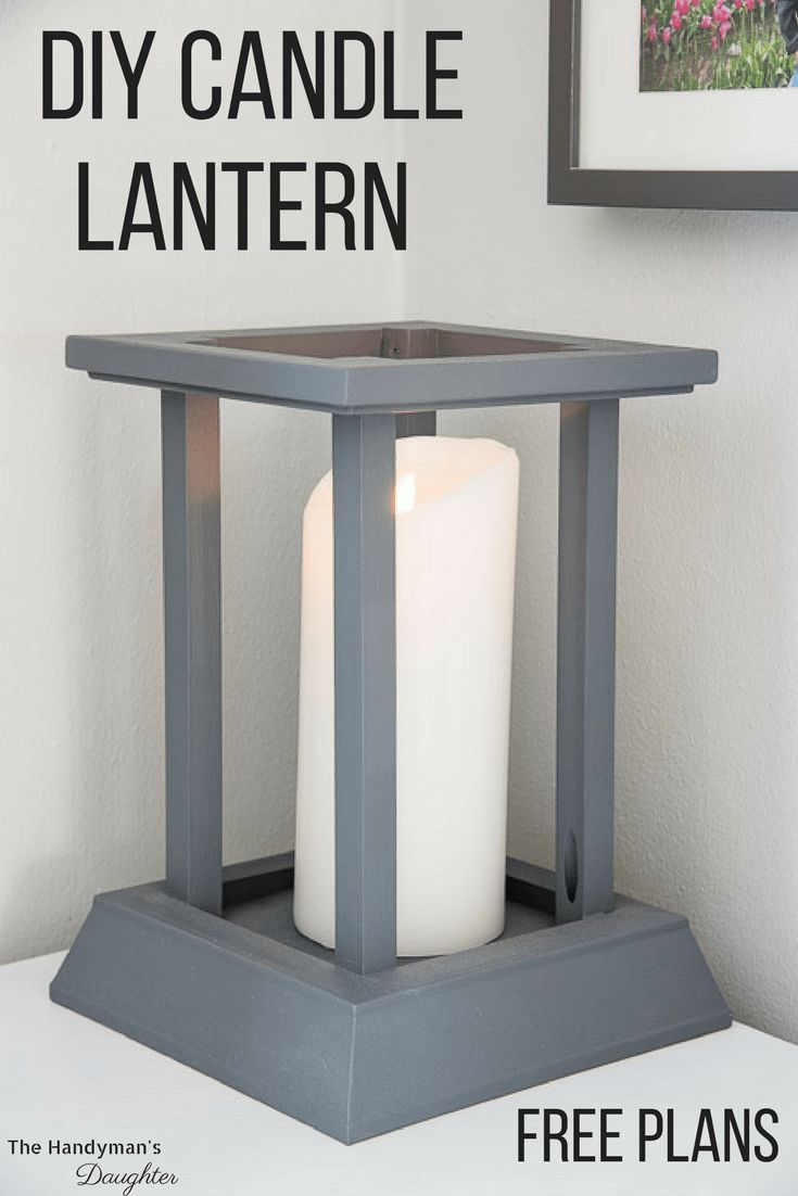 DIY Woodworking Ideas Frame your pillar candle in this elegant DIY candle lantern! Make yours with lef...