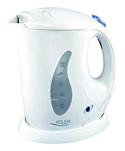 Adler AD 02 - Hervidor de agua, 0,6 litros, color blanco - http://www.darrenblogs.com/2017/04/adler-ad-02-hervidor-de-agua-06-litros-color-blanco/