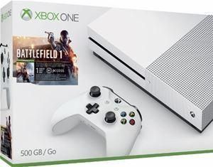 Xbox One S 500GB Battlefield $199.99 #LavaHot http://www.lavahotdeals.com/us/cheap/xbox-500gb-battlefield-199-99/184673?utm_source=pinterest&utm_medium=rss&utm_campaign=at_lavahotdealsus