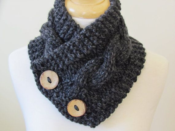 Knit Neck Warmer Cable Knit Scarf Chunky Warm Winter Scarf