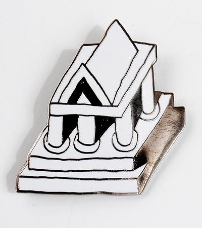 Found on www.botterweg.com - ETTORE SOTTSASS - Enamelled brooch executed for Acme / USA ca.1990