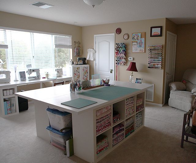 spacious sewing room ~ neat & well organized ~