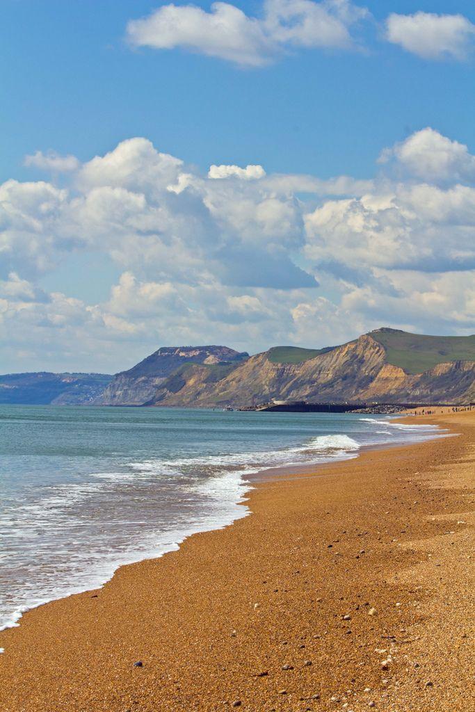 West Bay Beach, Dorset, England (by dizzydawn1)
