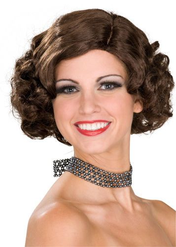 Adult Brown Wig for Flapper Halloween Costume #Rubies