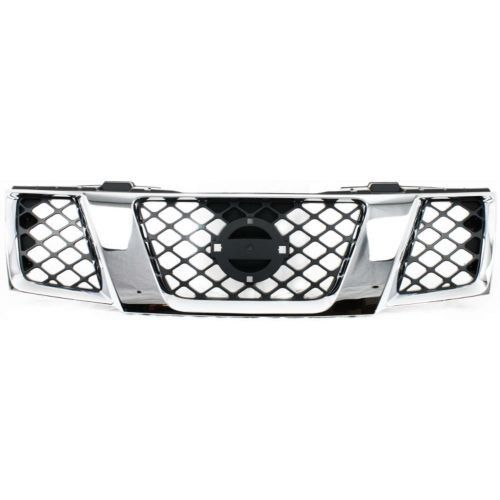 2005-2007 Nissan Pathfinder Grille, Assembly, Chrome Shell/ Black