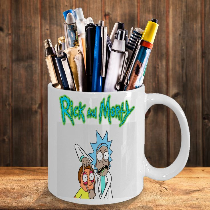All new rick and morty coffee mug 19.99 free shipping double sided in my bonanza store if you love rick and morty click on the picture and get your rick and morty on