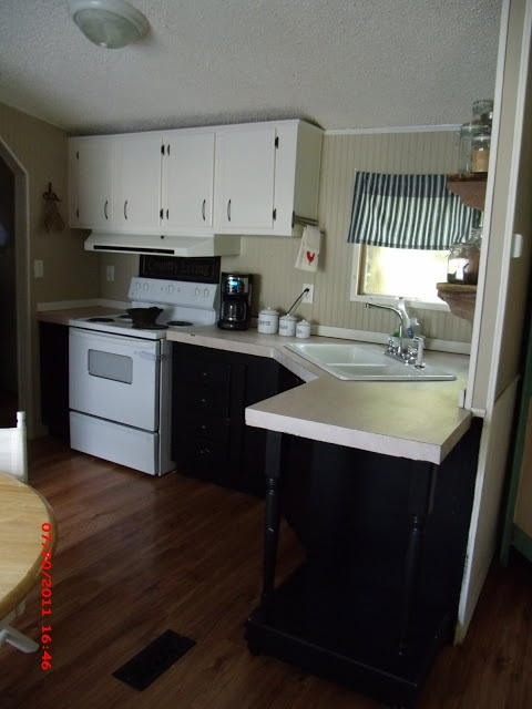 45 best rental remodel ideas images on pinterest mobile for Single wide mobile home kitchen ideas