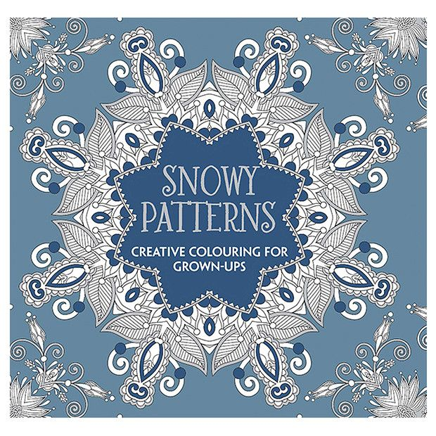 Snowflake Patterns Creative Colouring For Grown Ups Target Australia