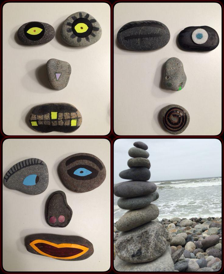 #stone #postit #tape #paint #fun #easy #emoji