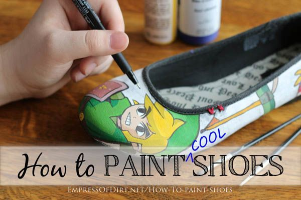 How To Paint Cool Canvas Shoes.  These are really cool!  Excellent tutorial by Empress Of Dirt.