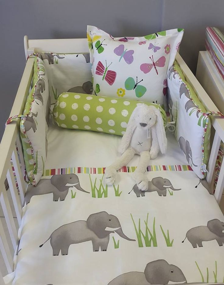 Our Jumbo Ele is #bright and perfect for any #NeutralNursery in an #ElephantTheme!   #BabyBedding #BabyLinen